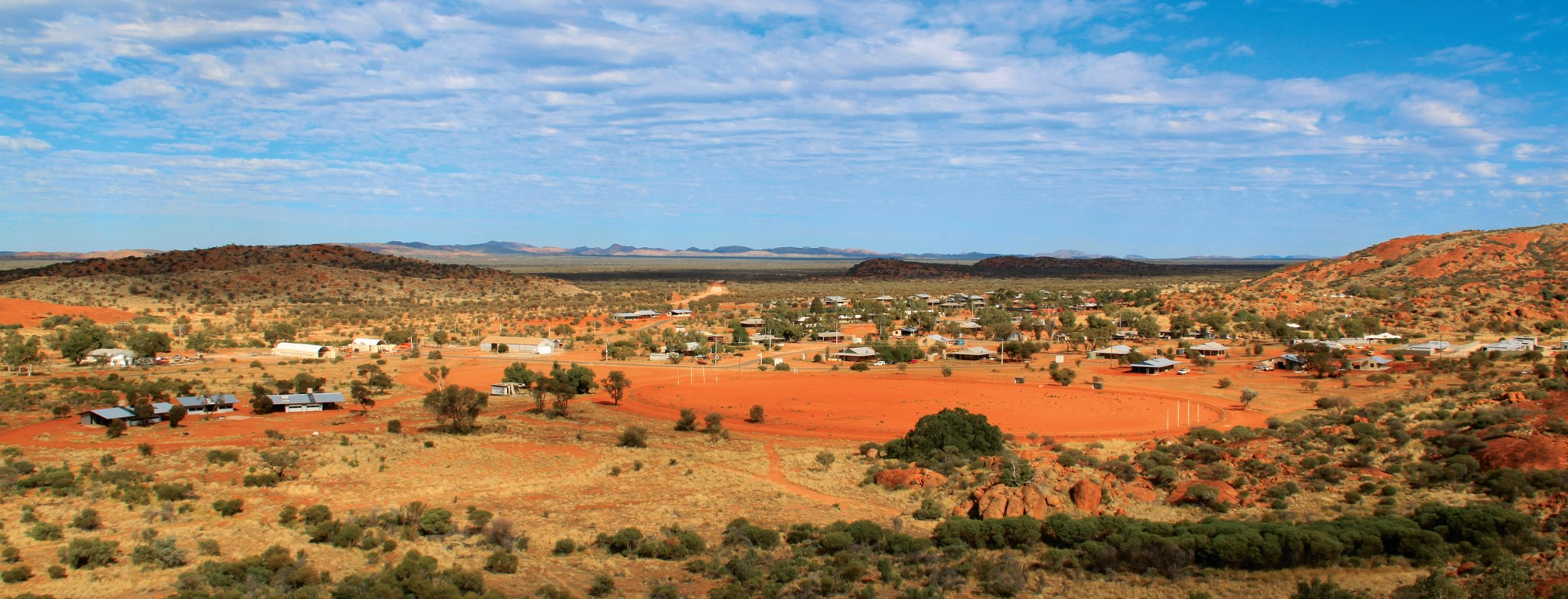 Aerial photo of the Mimili landscape
